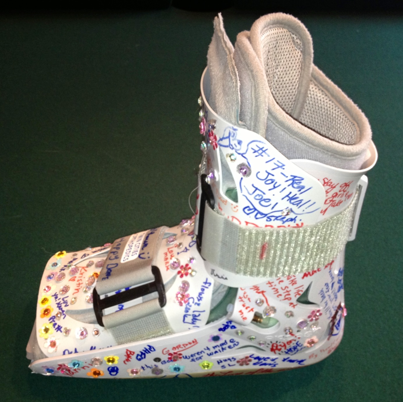 Bejeweled lisfranc recovery boot