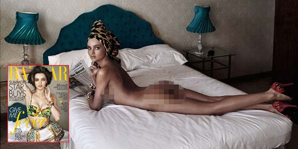 Miranda Kerr Berpose Bugil untuk Harpers Bazaar Magazine