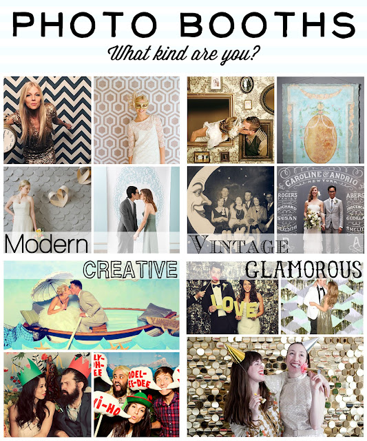 Photobooth photo booth theme style vintage modern creative artistic glamorous