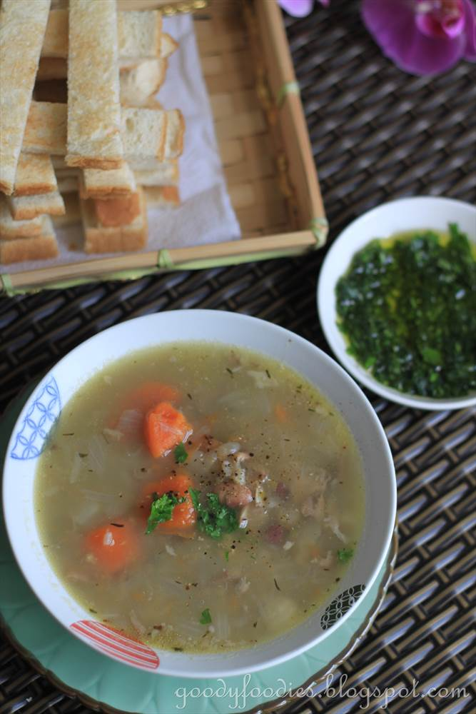 Goodyfoodies recipe chicken and organic bean soup Channel 7 better homes and gardens recipes