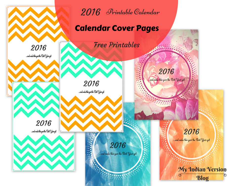 Calendar Cover Page Design : My indian version yearly and monthly calendar free