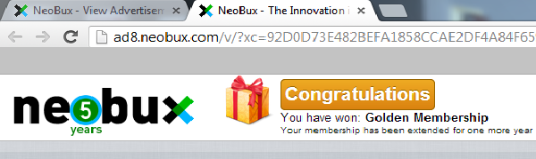 Neobux adprize ödül