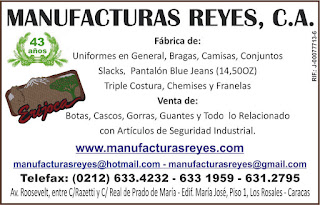 MANUFACTURAS REYES, C.A. en Paginas Amarillas tu guia Comercial