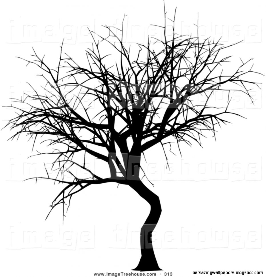 Winter Tree Clip Art Black And White Clipart Of A Black