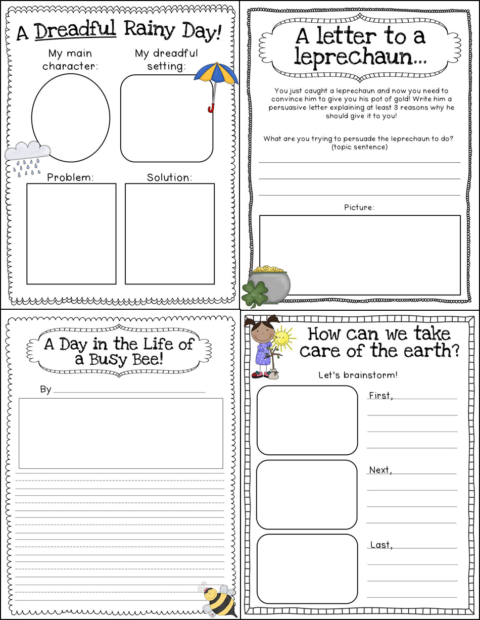 writing activities for 1st grade This page contains all our printable worksheets in section writing of first grade english language artsas you scroll down, you will see many worksheets for the alphabet review, building words, sentences and word order, beginning, middle, and end, brainstorming ideas, writing, naming, and mapping stories, friendly letters, thank you notes, invitations, sequenced directions, and more.