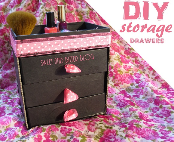 Diy Storage Drawers Using Beauty Box For Makeup Or