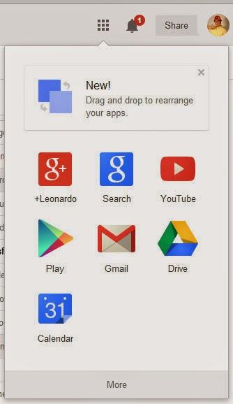 La nueva barra de servicios Google se puede personalizar