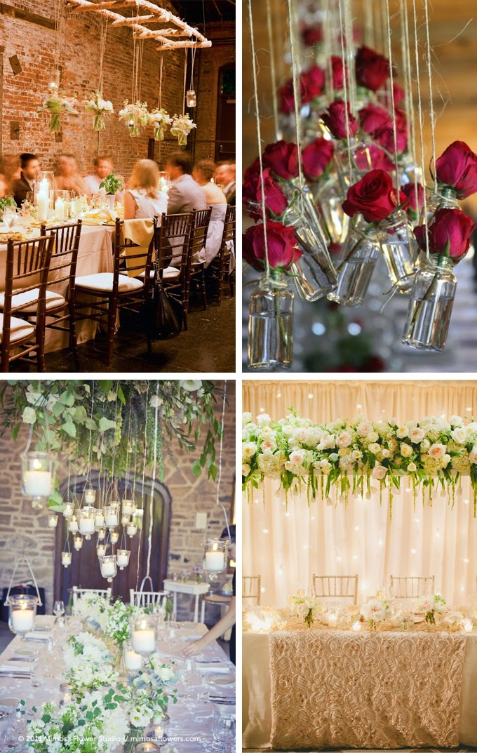 Hanging Head Table Wedding Decorations