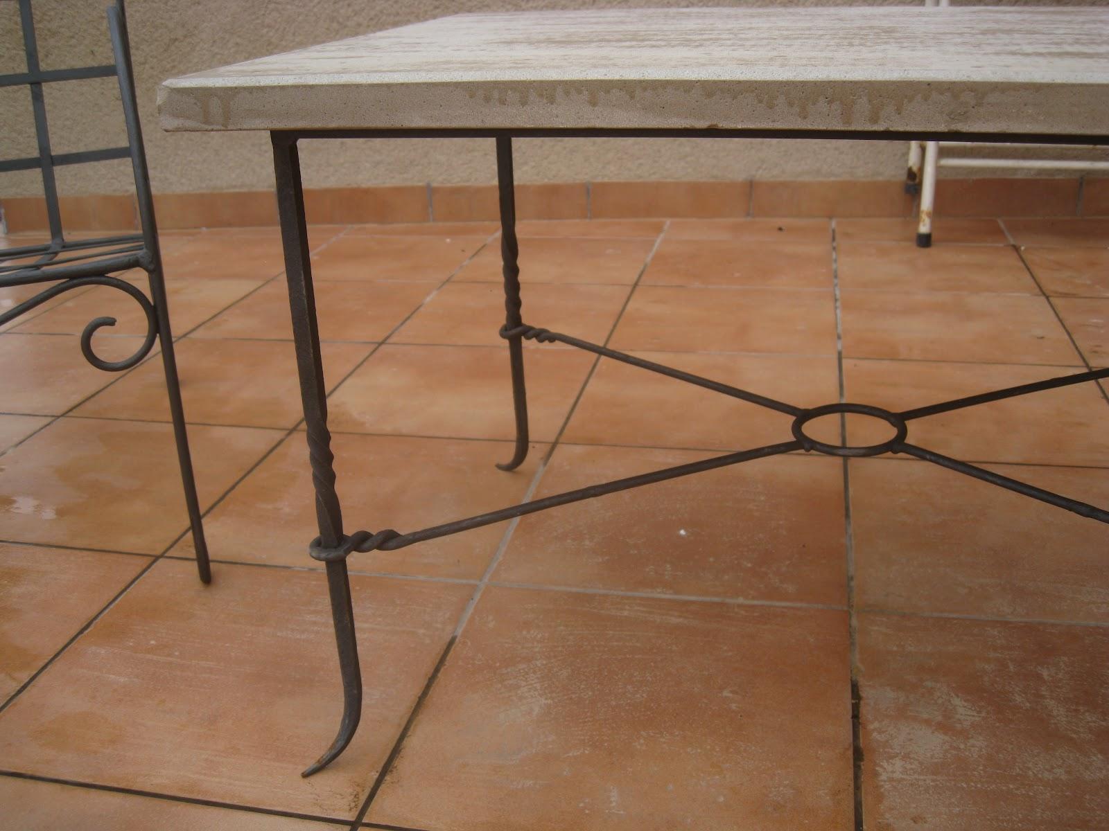 Mi forja yunque hierro y fuego mesas y mesitas - Patas de forja para mesas ...