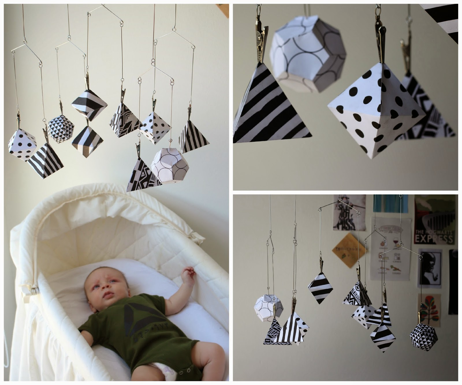 to the fullest diy geometric mobile -  big brother) and voila i had an easy affordable modernaesthetically pleasing developmentally appropriate and visuallystimulating baby mobile