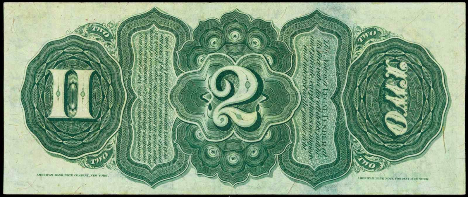 1869 2 Dollar Legal Tender Note