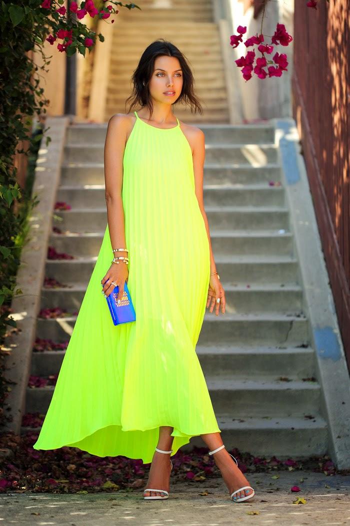 vivaluxury fashion blog by annabelle fleur neon pleats. Black Bedroom Furniture Sets. Home Design Ideas