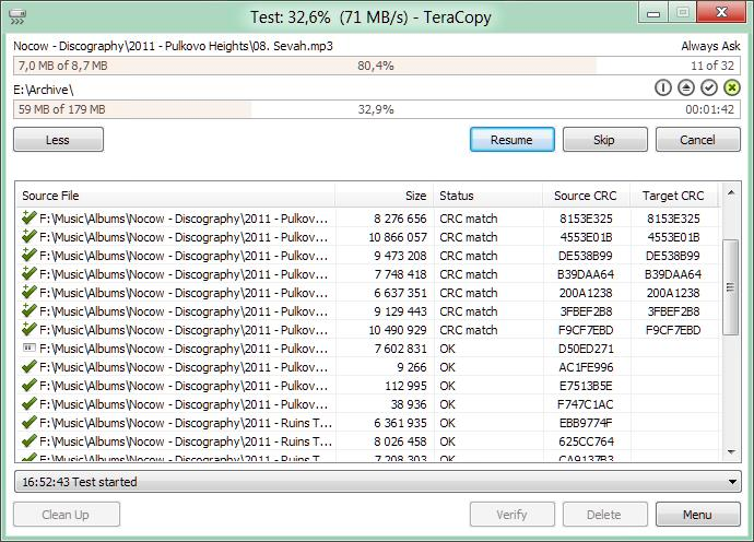 Teracopy 2.27 speed copy serial