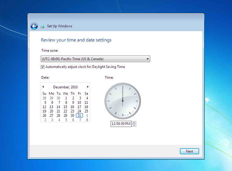 setting jam date and time