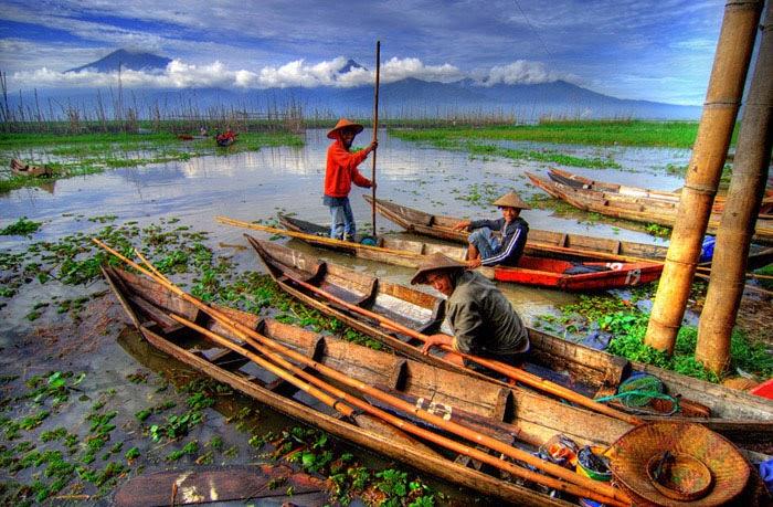 Danau Rawa Pening Ambarawa - Nelayan
