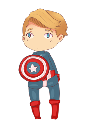 Chibi Captain America por Chibi-Engineer