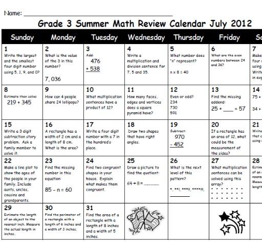 The Summer Bucket List   Ruby s Homework Team  a   Weebly Kindergarten Common Core Weekly Homework    image