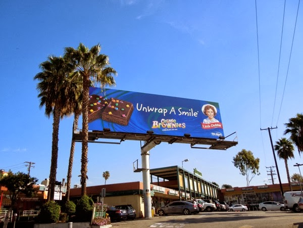 Little Debby Cosmic Brownies Unwrap a smile billboard