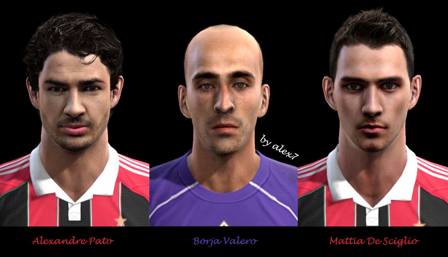 Alexandre Pato, Borja Valero e Mattia De Sciglio Faces - PES 2013
