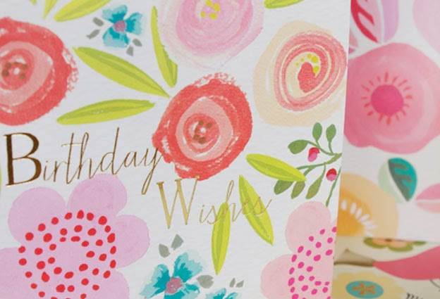 birthday wishes, flowers, floral cards, spring, greeting cards, designers, Liz and Pip