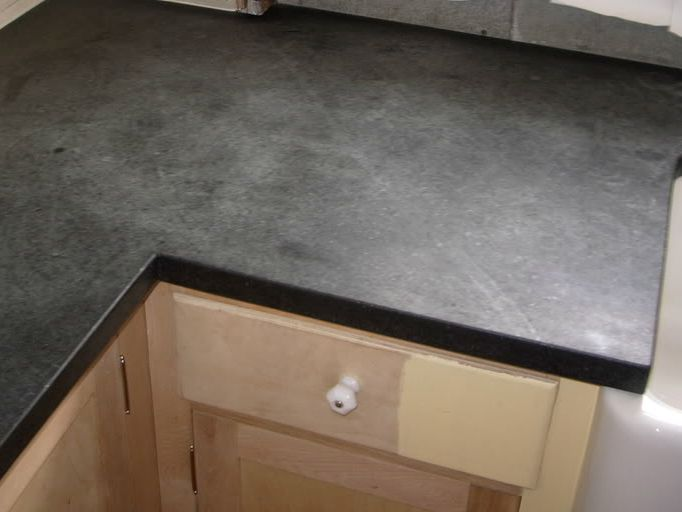 Ultimately We Figured We Were Just Going To Have To Replace Whole Counter.  I Wanted Soapstone.