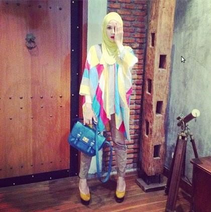 Foto Busana Muslim Zaskia Adya Mecca Model Hijab 2014