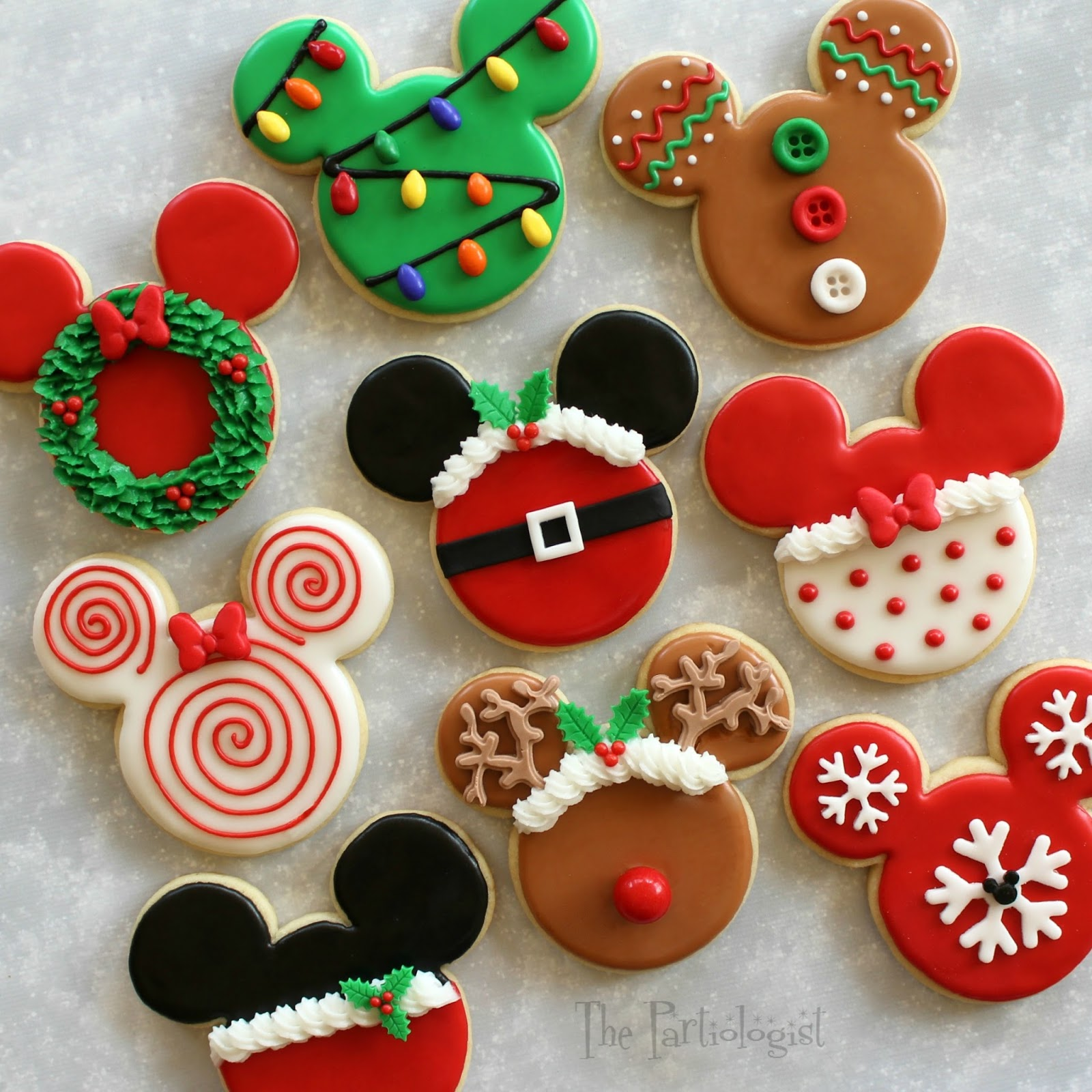 disney themed christmas cookies - Homemade Mickey Mouse Christmas Decorations