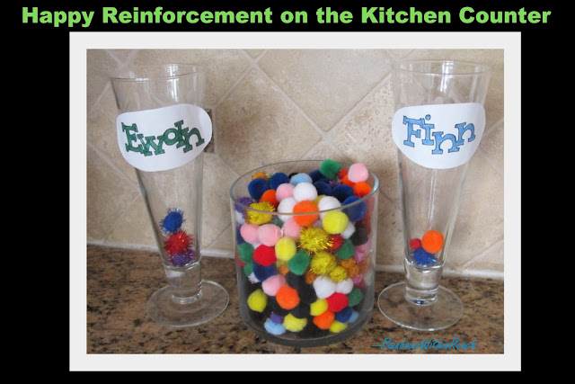 photo of: Kitchen Counter Kindness PomPoms (Kindness RoundUP via RainbowsWithinReach)