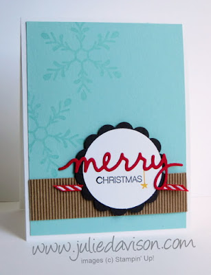 Stampin' Up! Holly Jolly Greetings Bundle Christmas Card #stampinup #christmas Holiday 2015 Catalog www.juliedavison.com