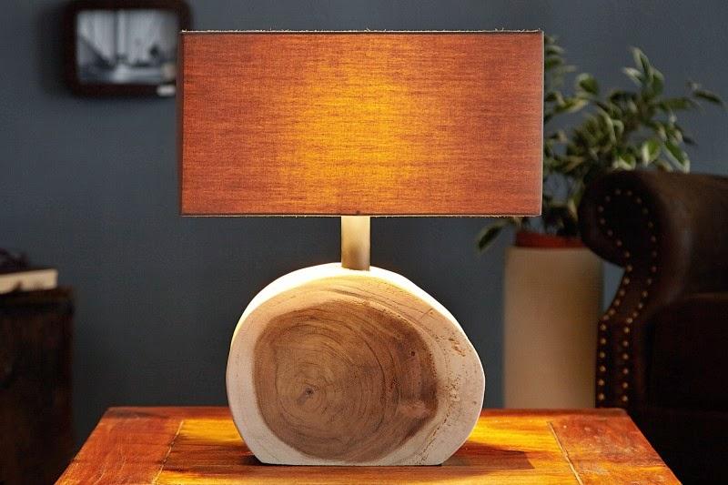 dizajnove svietidla reaction, lampa v kombinacii z masivnym drevom