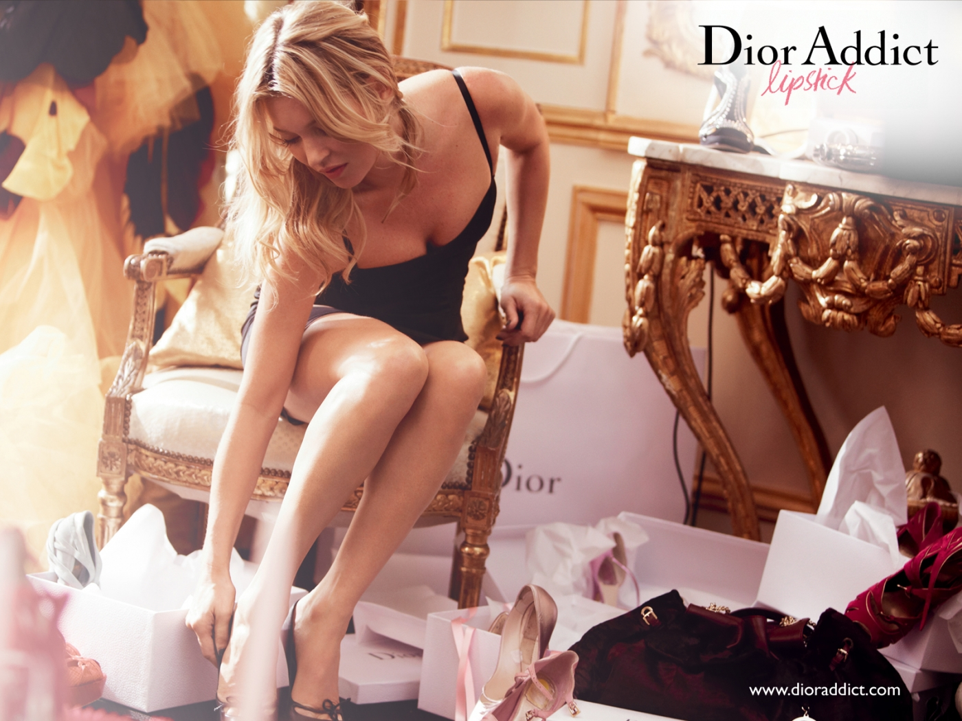 via fashioned by love | Kate Moss in Dior Addict Lipstick Spring/Summer 2011 campaign