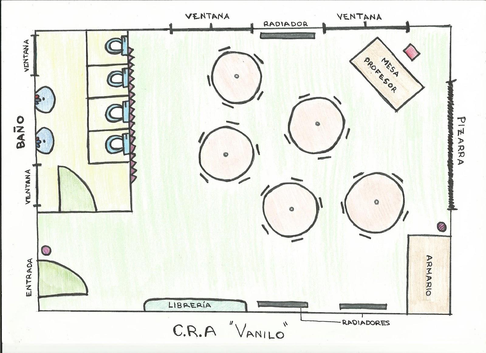 Colegio vanilo plano aula infantil for Medidas de mobiliario infantil