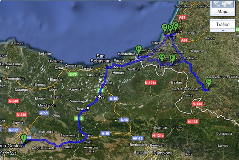 Con mi autocaravana relatos de viajes en autocaravana semana santa 2011 en el pais vasco franc s - Casas rurales pais vasco frances ...