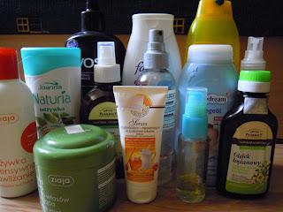 Kosmetyki którymi aktualnie pielęgnuje włosy LIPIEC 2013