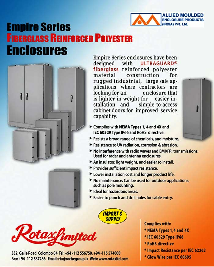 FRP Enclosure Solutions from Rotax.
