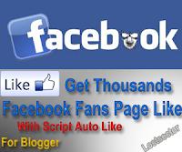 Script AutoLike Fans Page Facebook Untuk Blogger
