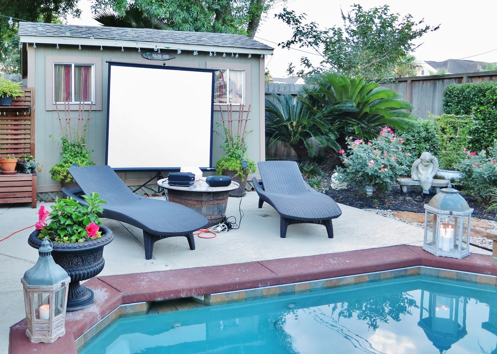 life by the pool it u0027s just better movie night pool side