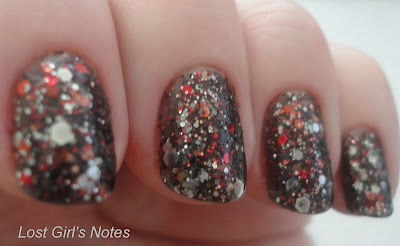 nerd lacquer it's just a flesh wound swatches and review