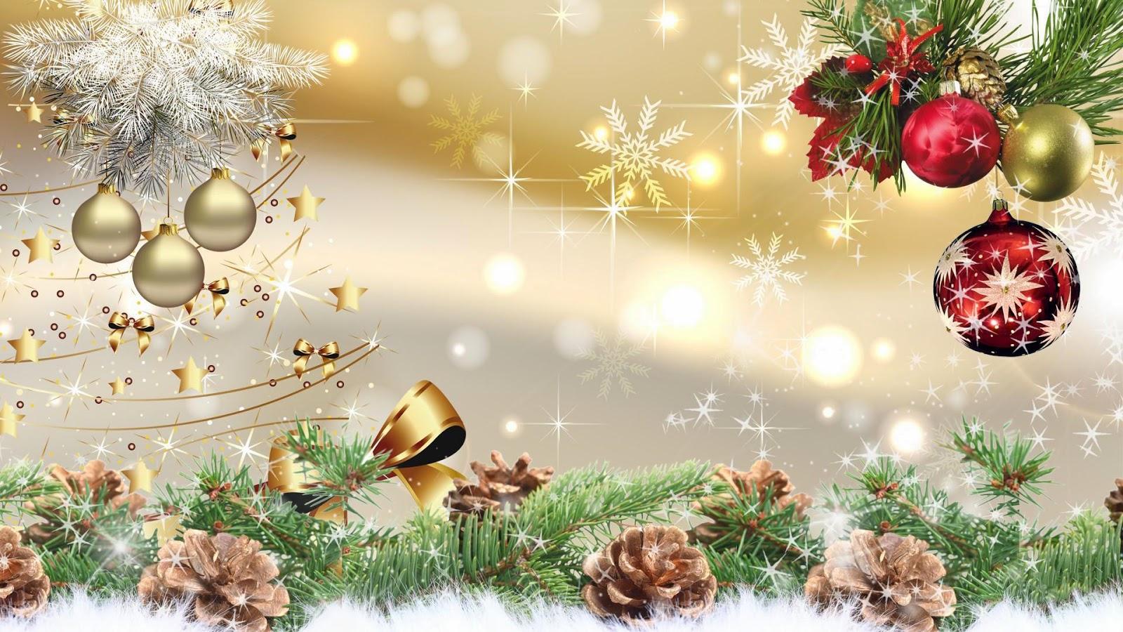 Banco de im genes postal con adornos navide os y mensaje bonito para compartir - Adornos para fotos gratis ...