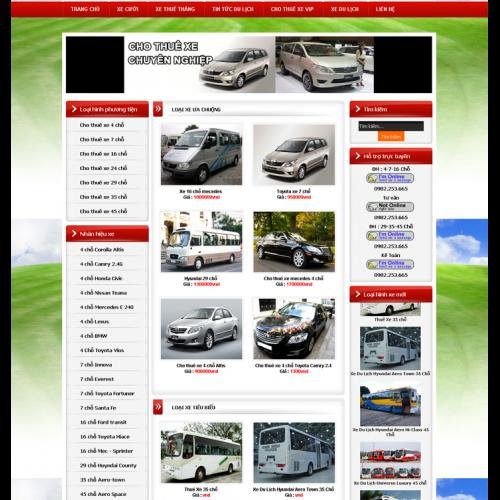 thiết kế website bán hàng cho thuê xe giá rẻ
