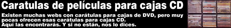 Caratulas de películas DVD para cajas CD