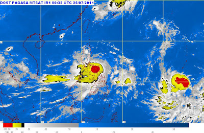 """At 5:00 a.m. today, Tropical Storm """" JUANING """" has intensified into a"""