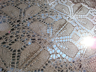 Lace -that wonderful fabric made with light air and space. Susanna E. Lewis