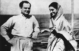 Feroze Gandhi and Indira Gandhi