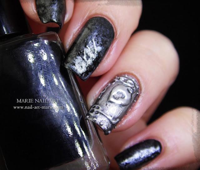 Nail Art effet Métal Ancien en 3D6