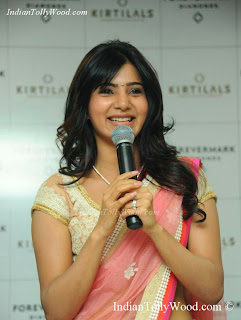 Samantha In Gorgeous Pink Saree Photos Pics