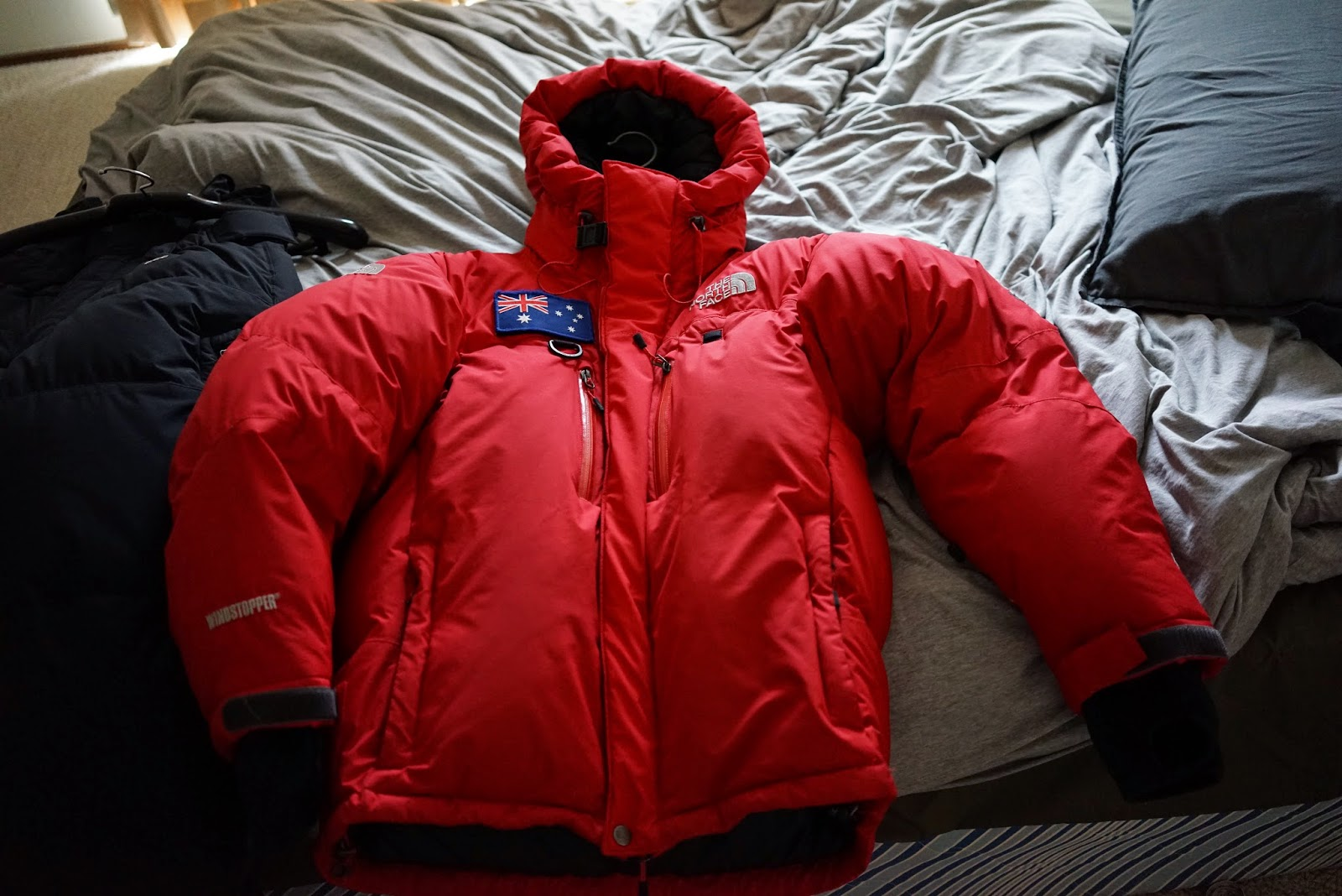 The north face himalayan parka windstopper