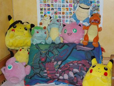 Pokemon piled high and wide.