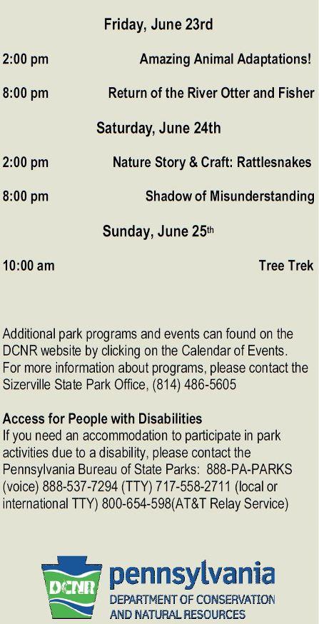 6-23/24/25 Sizerville State Park