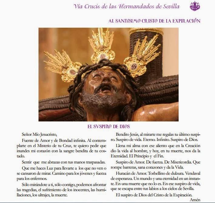 Itinerario Vía Crucis Sevilla 2014